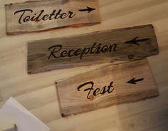 Wooden signs for our wedding. DIY. NordicPark. Bryllupsskilte. Bryllup.