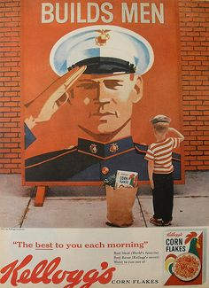 Kelloggs CORN FLAKES vintage advertisement cereal vintage illustration