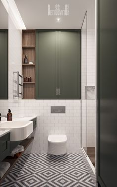 bathroom layout Residential appartment on Behance Washroom Design, Bathroom Interior Design, Kitchen Interior, Toilet And Bathroom Design, Interior Livingroom, Interior Modern, Luxury Interior, Interior Decorating, Bathroom Layout