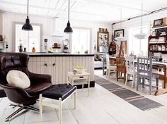 A lovely Finnish kitchen with vintage finds (Lundagård photographed by Krista Keltanen).