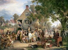 An Auction In A Village by Cockburn, Edwin - Wall Art Giclee Print or Canvas