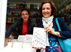 Con Yolanda López, amiga de siempre, que vino a verme con Violeta. Feria del Libro de Madrid 2015.