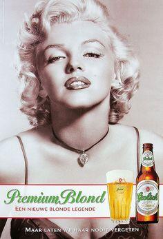Grolsch - Premium Blond. Marilyn Monroe :-)