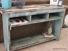Beyond The Picket Fence: Barn Wood Sofa Table
