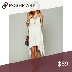 Free People Meadows of Medallion Swing Slip Dress bnwt never worn  Thee ubiquitous FP meadows of medallion dress a quintessential boho classic! Sz medium  Msrp  $98 **PLS NOTE THIS DRESS IS ❌ SEMI SHEER❌HIGHLY SUGGESTED U WEAR SOMETHING UNDERNEATH RAW UNEVEN HANDKERCHIEF HEM W/LOTSA HANGY THREADS  U CAN TRIM OR LEAVE AS IS..PERSONALLY I LET MINE PROGRESS AT WILL UNLESS TOO CARRIED AWAY AS IMO PART OF LOOK,A  WABI SABI ☯ AESTHETIC!! Tysm 4  have a lovely ✌ Free People Dresses