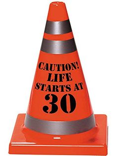 30th Birthday Plastic Hazard Cone