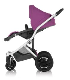 Reversible, reclining seat for baby's comfort - Britax Affinity Stroller in Cool Berry #stylish #custom #BRITAXStyle