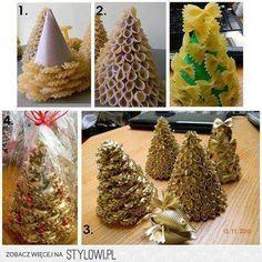Árvore de Natal Criativa com macarrão - Blog Casa da Arte