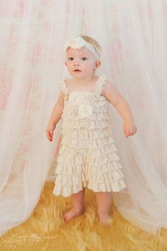 Ahhhhh Lace Baby Dress  Flower Girls Dress  Lace Dress  by PoshPeanutKids, $44.00