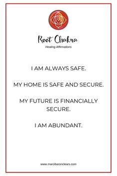 Root Chakra Affirmations