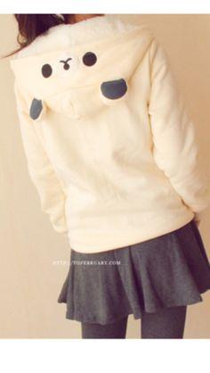 Hot Sale Girl's Letter Pattern Bear Hat Hoodie / So Cute! Kawaii Fashion, Lolita Fashion, Cute Fashion, Look Fashion, Mode Kawaii, Kawaii Shop, Kawaii Cute, Japanese Fashion, Asian Fashion