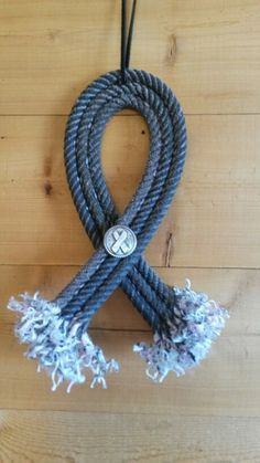 Cute 8 inch ribbon crafted from lariat rope with ribbon Concho $12.00