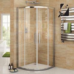 800 x 800 mm Luxury Sliding Quadrant Easy Clean Glass Shower Corner Cubicle… Brick Bathroom, Bathroom Renos, Bathroom Remodelling, Washroom, New Bathroom Ideas, Small Bathroom, Quadrant Shower Enclosures, Neo Angle Shower, Cabin Bathrooms