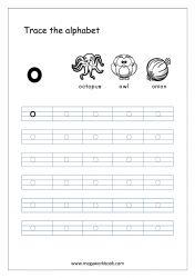 Alphabet Tracing Worksheet - Alphabet Tracing Sheets - Small Letter o Small Alphabet Letters, Alphabet Writing Practice, Tracing Letters, Alphabet Book, Tracing Sheets, Free Printable Alphabet Worksheets, Letter Worksheets For Preschool, Free Printables, Prewriting Skills