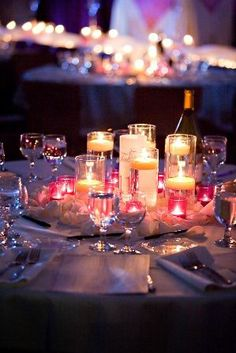 Will definitely have candles at my reception. I'm obsessed and candlelight creates such a romantic ambiance!