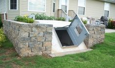 Great way to dress up a storm shelter in the back yard if you live in Tornado Alley like I do