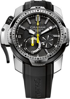 Graham Watch Chronofighter Prodive Black #bezel-unidirectional…