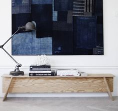 Boro Japanese textile wall hanging- home of Swedish stylist Lotta Agaton.