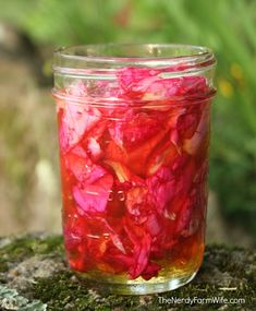 Rose Petal Remedy (Rose Oxymel) - for coughs, congestion & sore throat