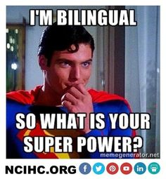 I'm #bilingual. So what is your super power? #interpreter #translator #languageaccess