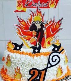 Bolo Do Naruto, Topper, Birthday Cake, Baking, Disney Characters, Cake Ideas, Anime, Chantilly Cream, Naruto Birthday