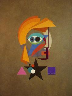 David Bauhaus - (Ziggy) David Bowie Portrait, 2016 Limited Editions