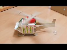 고무줄로 헬기 만들기 - YouTube Cute Crafts, Diy And Crafts, Crafts For Kids, Paper Crafts, Kits For Kids, Projects For Kids, Diy Recycle, Recycling, Science For Kids
