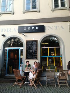 TOZD in Ljubljana. Hipster heaven. Try the local beer called Human Fish.