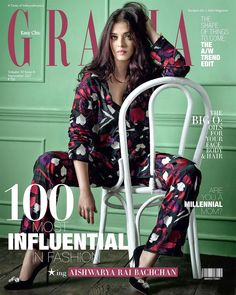 Aishwarya Rai Bachchan looks so beautiful as she graces the cover page of Grazia India magazine September 2017 issue. - BTM A post shared by Grazia I… Grazia Magazine, Perfect Model, Aishwarya Rai Bachchan, New Gossip, Cover Pics, Runway Models, Covergirl, Bollywood Actress, Bollywood Girls