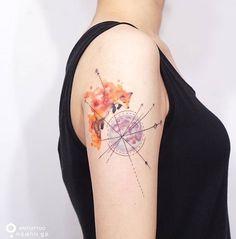 Silo tattoo watercolor fox