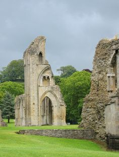 Glastonbury Abbey (where Arthur and Guenevere are supposedly buried)