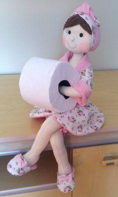 PDF doll body Cloth Doll Pattern PDF Sewing Tutorial+ Pattern Soft Doll Pattern sewing dolls, cloth doll, make a doll, make doll body Toilet Roll Holder Doll, Toilet Roll Art, Diy Toilet Paper Holder, Toilet Paper Crafts, Paper Holders, Felt Crafts, Diy Crafts, Sewing Patterns, Crochet Patterns
