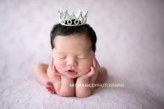 Victoria Princess Rhinestone Newborn Crown - READY TO SHIP