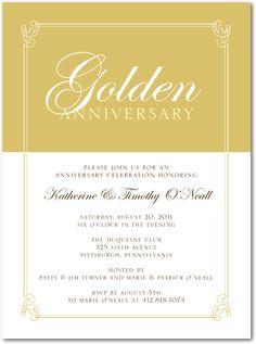 Invitations to Paretns 50th!
