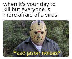 Movie Memes, Dankest Memes, Funny Memes, True Memes, Funniest Memes, Funny Stuff, Scary Funny, Funny Halloween Memes, Horror Films