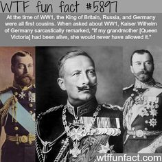 I knew about Britain and Russia, didn't know Germany was a cousin too!!