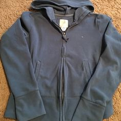 Women's Aerie jogging jacket blue size small Blue jogging jacket brand aerie size small 96% polyester 4% spandex two front pockets with hood aerie Jackets & Coats