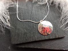 Fairy picking Dandelion Clock Pendant in Sterling Silver x #fairyjewellery #agnesdrjewellery #kirkliston