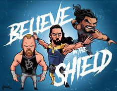 The Shield by Nolan Harris Wrestling Superstars, Wrestling Wwe, Wrestling Stars, Sport Motivation, South Park, Power Rangers, Roman Regins, The Shield Wwe, Avatar