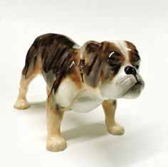 Collectible-Royal-Doulton-Bone-Of-China-Ornament-Bulldog Royal Doulton, Bones, Ornament, Pottery, China, Character, Vintage, Collection, Ceramica