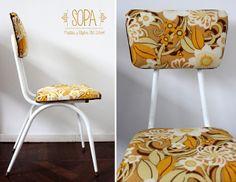 Silla Diseño Años '60 '70, restaurado por SOPA, Muebles y Objetos Old School