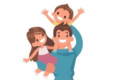 Happy Family rvector illustrations by Vector_Art on Free Vector Graphics, Vector File, Vector Art, Family Vector, Kids Vector, Vector Illustrations, Graphic Illustration, Dad Daughter, Happy Family