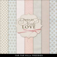 Freebies Kit of Backgrounds - Nordic Love:Far Far Hill - Free database of digital illustrations and papers
