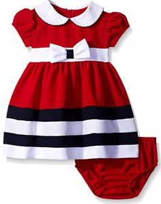 Cute baby girl dress. Perfect for any occasions! #fashionable #baby #girl #babyclothes #babyoutfit Girls Dress Up, Frocks For Girls, Little Girl Dresses, Baby Dress, Fashion Kids, Fashion Bra, Babies Fashion, Kids Outfits, Baby Outfits