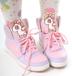 Cutie Kawaii Decora Pastel Candy Pink Purple Hi Top Sneaker Boot Girl Teen Adult #Unbranded #FashionAnkle