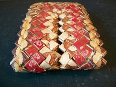 Prison Tramp Art Cigarette Wrapper Wallet by thedepo on Etsy,