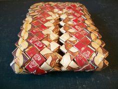 Prison Tramp Art Cigarette Wrapper Wallet  | Tramp Art, Hobo Art, Prison Art