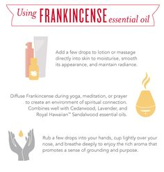 Who doesn't love the earthy, grounding scent of Frankincense essential oil! Check out these tips on the different ways Frankincense can be used.  http://www.ylwebsite.com/homeopathy/frankincense