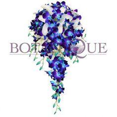 Blue Orchid Cascade Wedding bouquet| Botanique Wedding Florists Gold Coast | Gold Coast wedding Florists Botanique