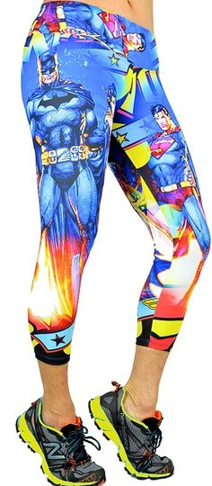 Colorful Printed Capri Cool Workout Wear By ShapeUp Women's Printed Crop Legging Fitness Attire at SanDiegoFit.Com